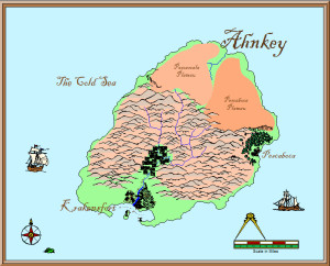 City of Krakensfort on the island of Ahnkey