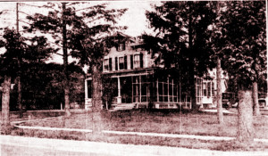 The home of Dr. and Mrs. Edwin Carman
