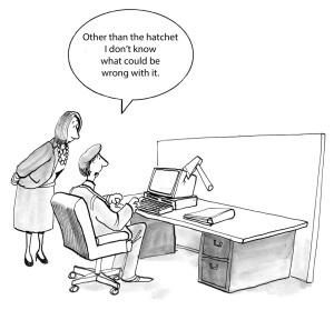 Hatchet in computer